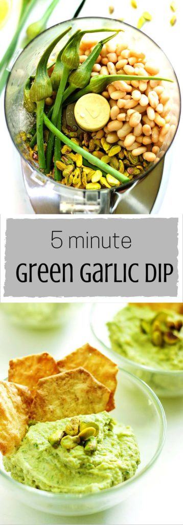 5 Minute Green Garlic Dip