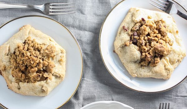 Gluten-Free Apple & Pear Galettes with Pecan Streusel