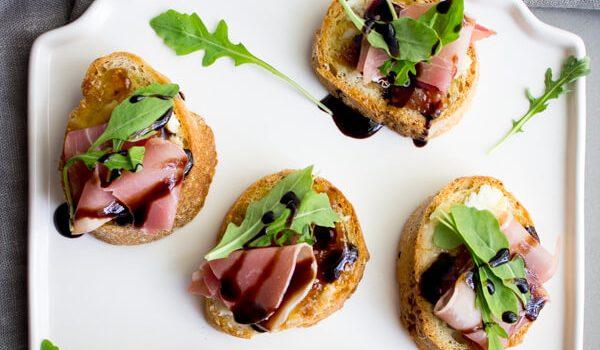 Crostini with Fig & Prosciutto