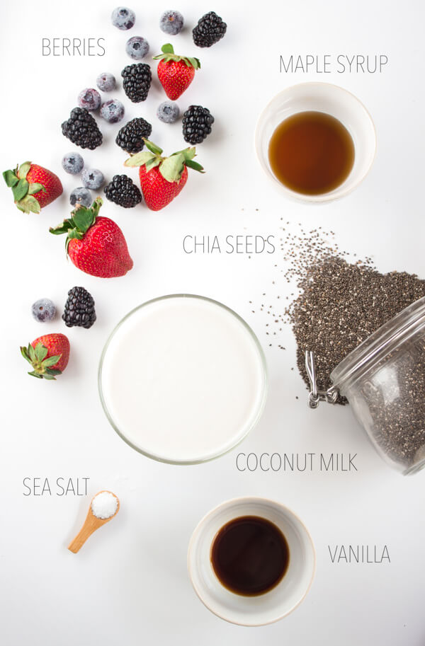 Coconut Chia Parfaits with Fresh Berries - With just 6 ingredients, these Coconut Chia Parfaits with Fresh Berries are a quick and easy superfood breakfast or a beautiful treat for a brunch or party. Recipe courtesy of Natural Contents Good Food For Everyone: Farm Fresh Clean Eating by Danielle Gaebel (Published by Natural Contents.com LLC; 2016); reprinted with permission. | passmesometasty.com