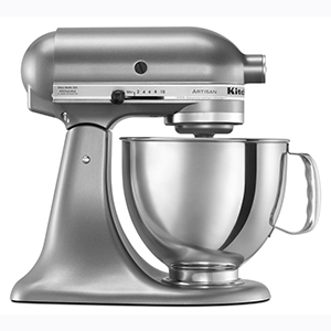 Silver KitchenAid stand mixer