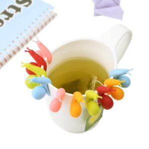 eBoot 10 Pcs Cute Snail Shape Silicone Tea Bag Holders
