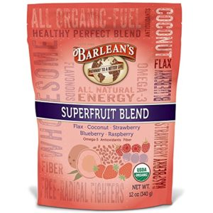 A 12 oz. bag of Barlean's Superfruit Blend