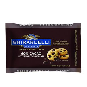 A 3 pound bag of Ghirardelli 60% cacao baking chips