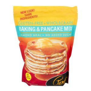 A bag of Pamela's brand gluten free baking and pancake mix