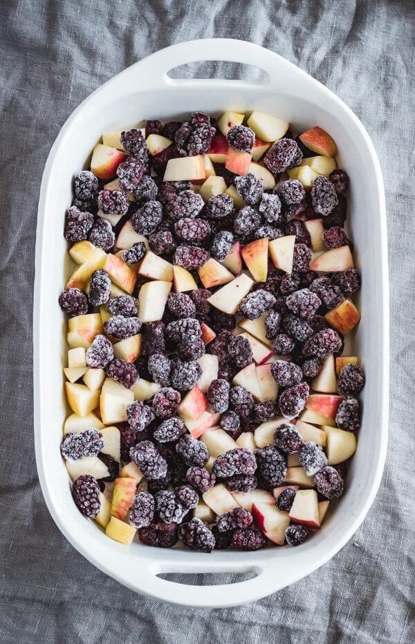 Healthier Warm Apple Crisp