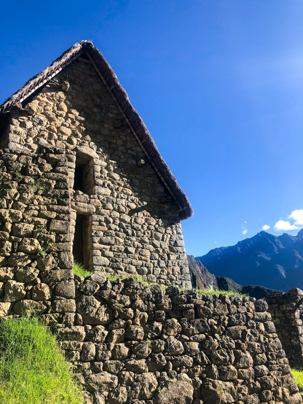 A stone house at Machu Picchu.