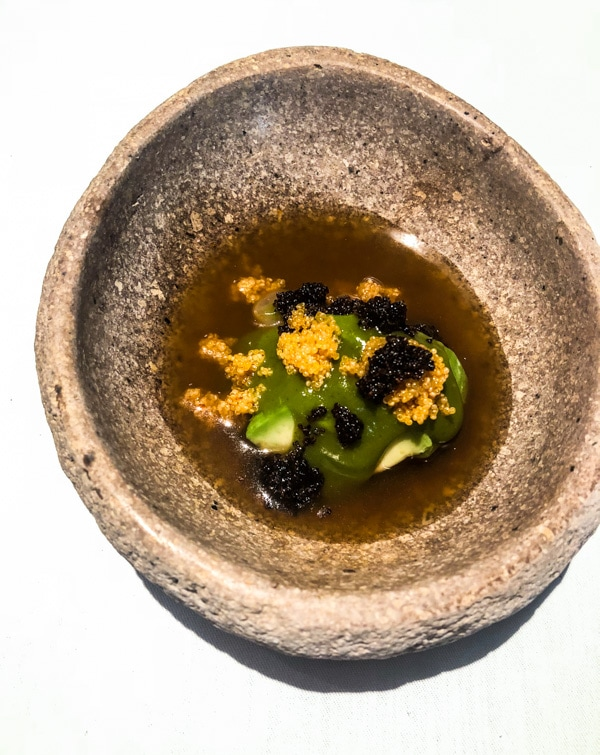 8th Course at Central: HIGH VALLEY Avocado Kañiwa River Shrimp 2800M