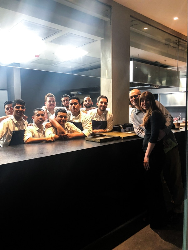 With the talented kitchen staff at Central Restaurant in Lima, Peru