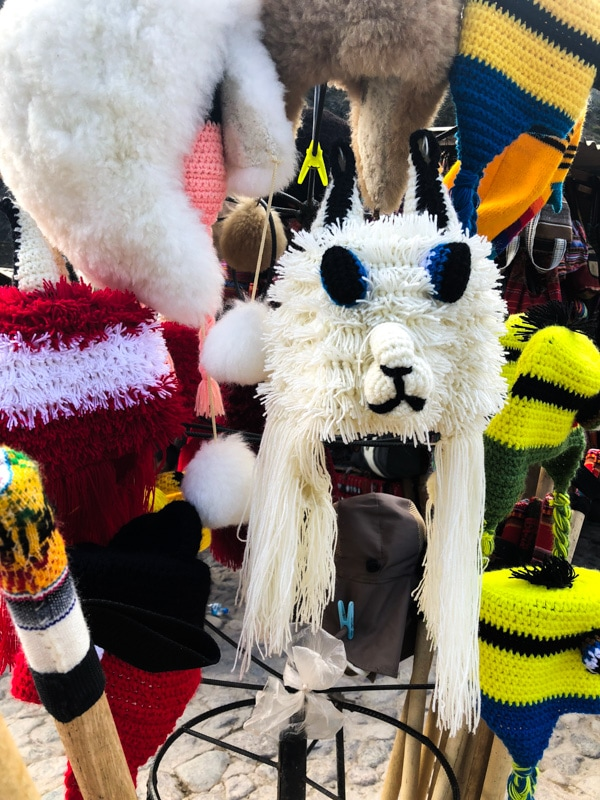 The awesome llama yarn hat I should have bought.