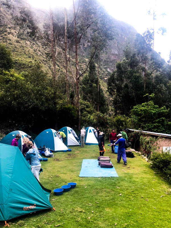 One of our campsites along the Inca trail.