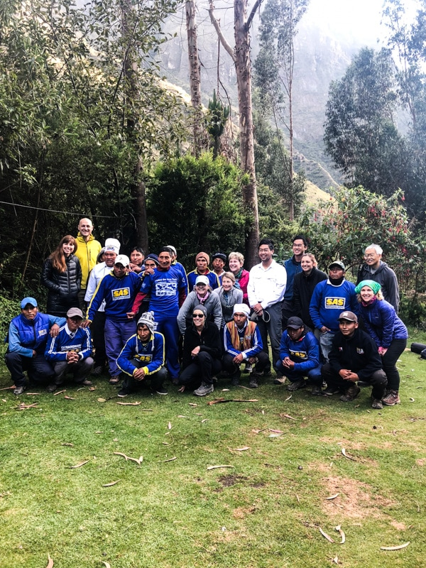 "Our Inca Trail ""family"""