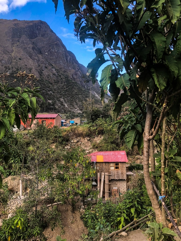 A little village along the Inca Trail.
