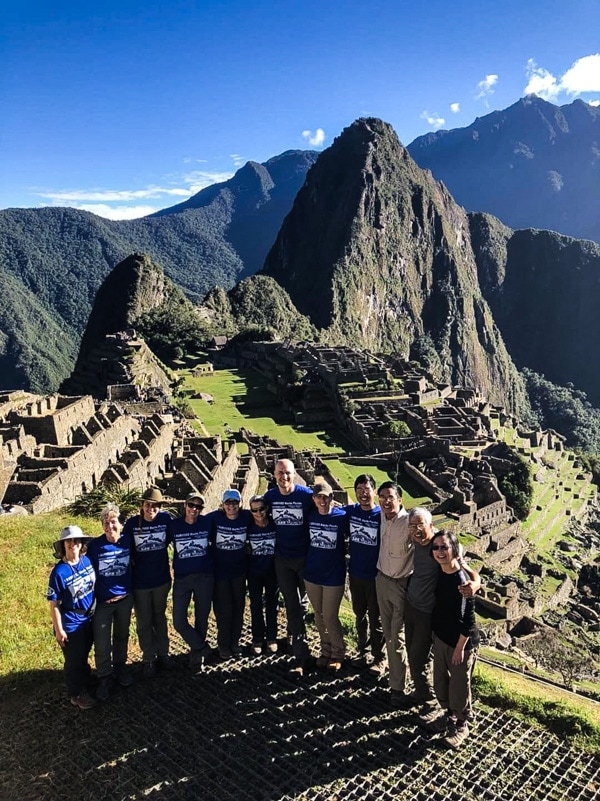 "Our ""family"" standing in front of Machu Picchu."