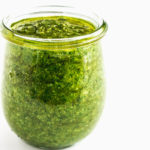 A jar of fresh Pesto Genovese.