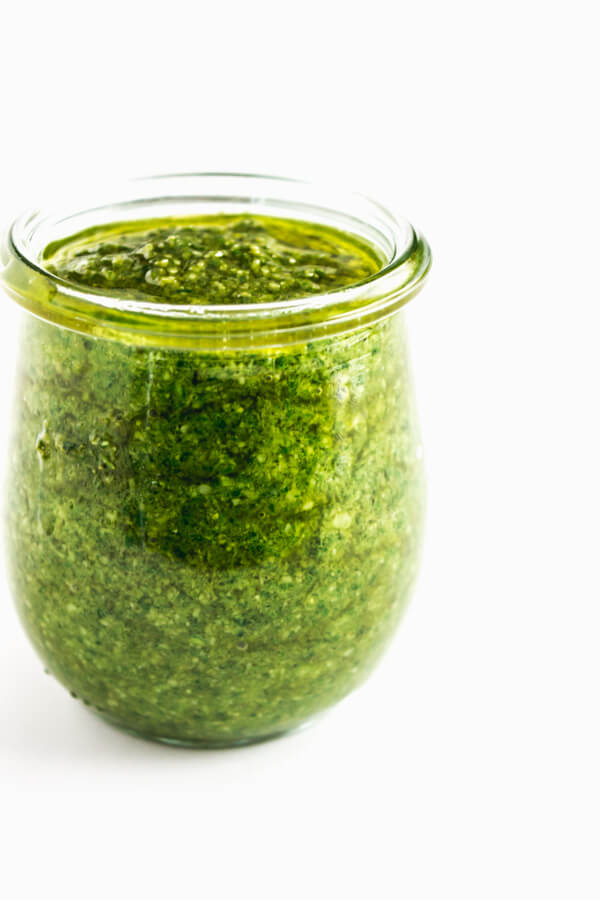 A jar of fresh Pesto Genovese.