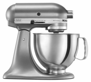 A Kitchenaid 5-Quart Mixer in Contour Silver