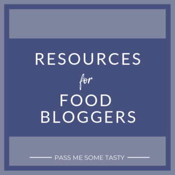 Resources for food bloggers