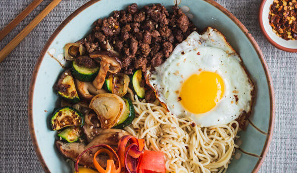 Simple Beef Bibimbap Ramen