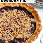 An Oregon Marionberry blackberry pie with a golden, flaky gluten-free crust and a almond & oat streusel topping.